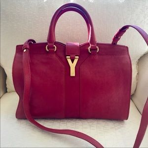 YSL Chyc Mini Ligne Y Leather Satchel
